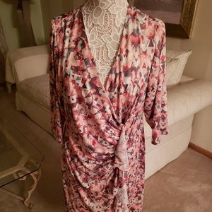 Shelby & Palmer Multi-Colored Faux Wrap Dress